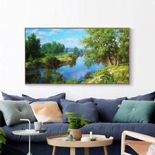Embroidery DIY Cross Stitch Painting Landscape River Pattern Scenic Style Decors