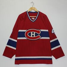 Vintage Jean Beliveau Montreal Canadiens CCM NHL Jersey Size XXL Red