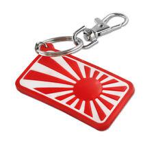 1X Jdm Soft Rubber Pvc keyring Japan Flag Rising Sun As Logo Key Chain Key Fob(Fits: 2005 3)