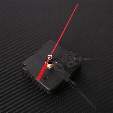 Modern Black&Red Quartz Movement Mechanism Silent Clock Hands DIY Part Kit Tool