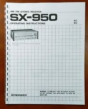 Pioneer SX-950 Stereo Receiver Owners Manual
