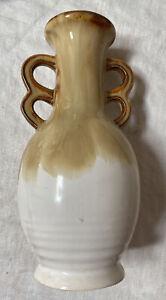 Cream and White Jug / Vase Grizelle Japan Used 65mm x 165mm