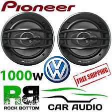"""PIONEER VW T5.1 TRANSPORTER 2006 & GT 8 """" 3 VIE 1000 W PORTA ANTERIORE ALTOPARLANTI E STAFFE"""