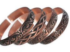 4 Pure 100% Copper Bracelets Bioactive Bangles Vintage Style Bronze