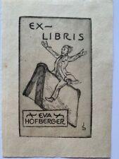 Ex-Libris Joseph SATTLER pour Eva Hofberger, 93 x 58 mm
