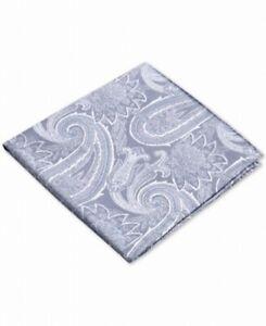 Ryan Seacrest Distinction Men Pocket Square Blue Wakefield Paisley Silk $35 #297