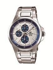 Casio EDIFICE Armbanduhr Analog Edelstahl Datum NEU! EF-342D-7AVEF