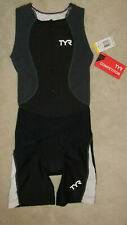 Tyr Female Triathlon suit with front zipper - Black/Grey/White - Extra Small