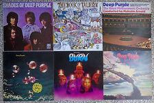 14 vinili 33 giri Deep Purple Burn The book of taliesyn More smoke on the water