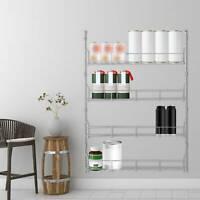 4 Spice Herb Jar Rack Holder Kitchen Door Cupboard Storage Wall Tier Kit