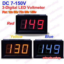 DC 7V-150V 3 Digital LED DC Voltage Test Meter Voltmeter 12V 24V 36V Car Battery