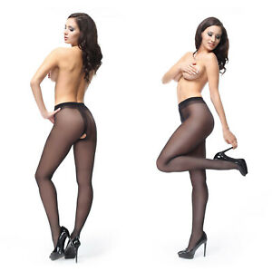missO 40D Shiny Crotchless Pantyhose   Silky Smooth Sheer to Waist   Plus Sizes