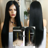 Brazilian 13*6 Deep Part Lace Front Human Hair Wig Silky Straight Full Lace Wigs
