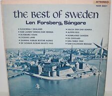 Len Forsberg - The Best of Sweden LP Nordik Records NOR 8801 Vinyl Autographed