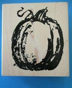PUMPKIN Rubber Stamp ART IMPRESSIONS Fall HALLOWEEN