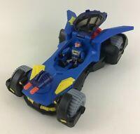 Fisher Price Imaginext Deluxe Batmobile Blue DC Super Friends Batman Vehicle