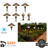 LED Outdoor Low Voltage Path Walkway Garden Landscape Lighting Kit 8-Pack Lights