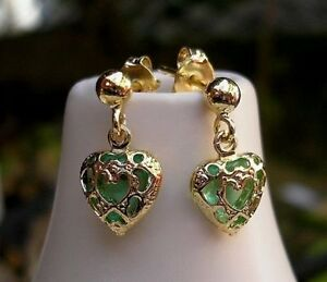 GENUINE 18CT GOLD GF EARRINGS SILLY PRICE LOW STOCK FROM 9CT GOLD BLING 091