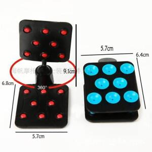 ABS PVC Anti-slip Double Side Suction Cup Mat Sucker Holder For Mobile Phone GPS