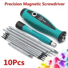 10Pcs Precision Magnetic Screwdriver Set Phillips Slotted Star Bits Repair Tool