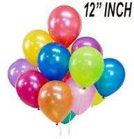 "12"" PEARL Metallic BALLOONS helium BALOONS Birthday Wedding Couple Celebration"