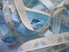 Bebé 15 mm Paquete de Cinta Azul 8 X 1 MTR por Berisfords 8 Diferentes Diseños