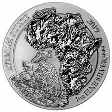 2019 Rwanda African Ounce Shoebill 1 oz Silver RWF Franc50 Coin GEM BU SKU56552
