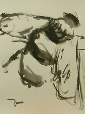 JOSE TRUJILLO Modern Art ABSTRACT EXPRESSIONIST INK WASH BEE INSECT MINIMALIST