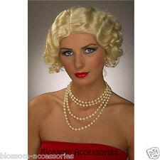 W201FN Blonde Flapper Wavy Wig 1920's 30's Women Costume Wig