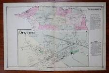 1873 MAP of BETHLEHEM & JUNCTION HUNTERDON CO NJ - F.W. BEERS