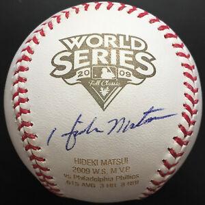 Hideki Matsui Signed 2009 World Series Baseball, BAS COA