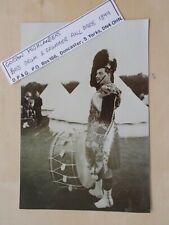 MILITARY PHOTOGRAPH - GORDON HIGHLANDERS - BASS DRUM & DRUMMER c1899 - m1126