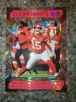 2020 Panini Illusions Patrick Mahomes Clear Shots Acetate Chiefs Red /399 #1