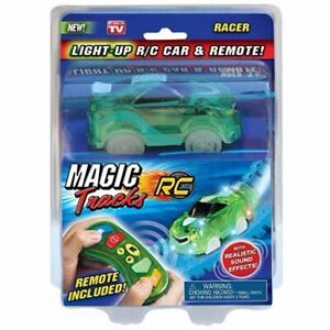 Magic Tracks RC Car & Remote with Realistic Sound Effects Age 3+ (1) Colors Vary
