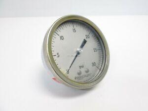"Ashcroft 250-2990A01 Pressure Gauge, 0-30PSI, 1/4""NPT"