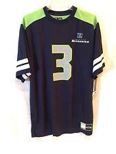Seattle Seahawks Russell Wilson jersey-M-FREE team lapel pin-Hawks Nation Gear!
