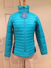 Columbia Powder Pillow Hybrid Jacket Puffer Lightweight Turquoise S $125 NWT