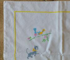 1 Drap Bébé en Coton Décor imprimé de Chats et sa Taie