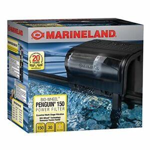 Power Aquarium Filter 20 to 30-Gallon 150 GPH Fish Tank Best Marineland Penguin