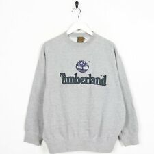 Vintage TIMBERLAND Big Logo Sweatshirt Jumper Grey | Medium M