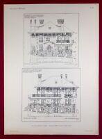 Cannes en 1920 Plan Villa Rubrent Architecte Warnery Côte d'Azur Alpes Maritime
