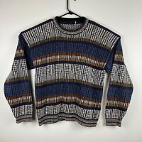 Vintage Multicolored Coogi Style Crewneck Sweater Biggie Cosby Size Large Knit