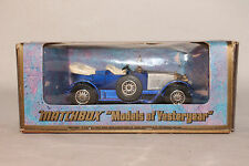 MATCHBOX YESTERYEAR Y-2 1914 PRINCE HENRY VAUXHALL, NICE, ORIGINAL, BOXED