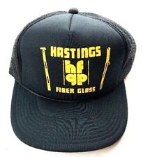 Hastings Fiber Glass Trucker Hat SNAPBACK Black&yellow Skateboard (C1)