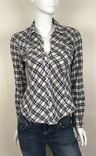 Harley Davidson Women's 100% Cotton Flannel Shirt Embroidered Plaid Size Small