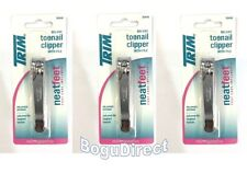 3 Pk Deluxe Trim Toe nail clipper with file 00448 Clippers