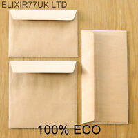 C7 C6 C5 A5 DL 100 gsm BROWN KRAFT ENVELOPES CARD PAPER WEDDING SMALL MINI CRAFT