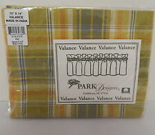 "Park Designs Arbor Pattern Valance 72 x 14 inches 100% Cotton 2"" Rod Pocket"
