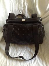 Gianni Versace Small Black Leather Purse