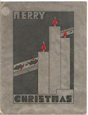 Clara Phillips Vintage Christmas Card Tiger Girl Hammer Murderer